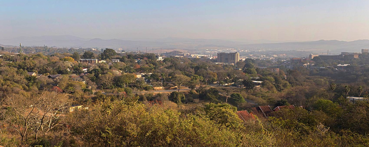 Nelspruit or Mbombela city scene