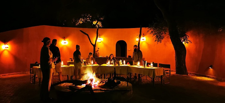 A lovely boma dinner after a great day in the bush.